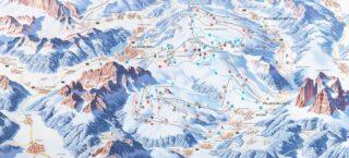 Mappa Piste Ski Civetta