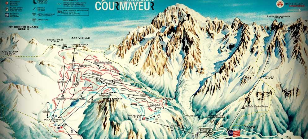 Mappa Piste Courmayeur