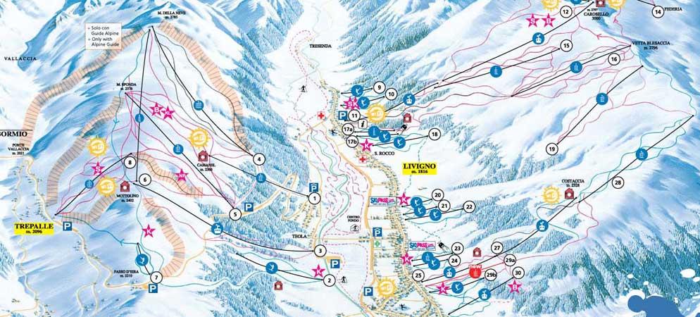 Mappa Piste Livigno