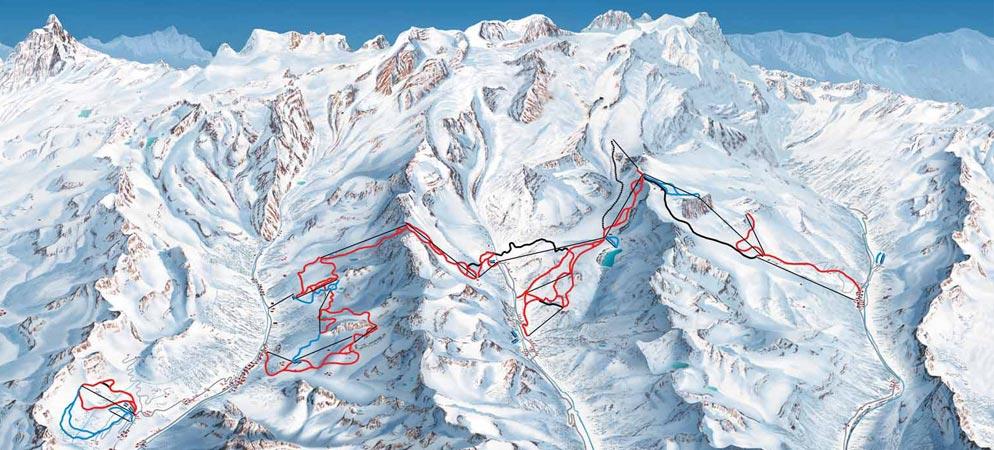 Mappa Piste Monterosa Ski