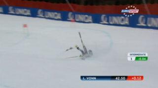 Video caduta Lindsey Vonn ai Mondiali di Sci a Schladming