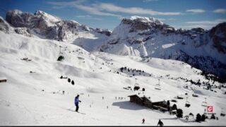 Sciare sulle Dolomiti della Val Gardena