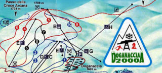 Mappa Piste Doganaccia