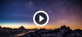 Lo spettacolo delle Dolomiti innevate in Time-lapse