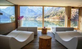 Lago di Ledro: fino a 3 notti in camera vista monte con mezza pensione e Spa per 2 persone all'Hotel Mezzolago